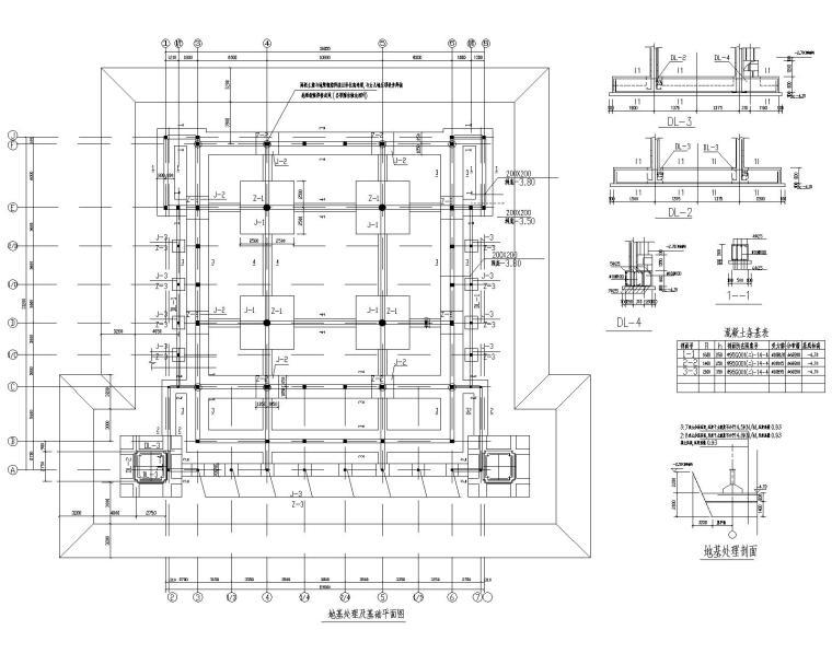 4地基处理及基础平面图