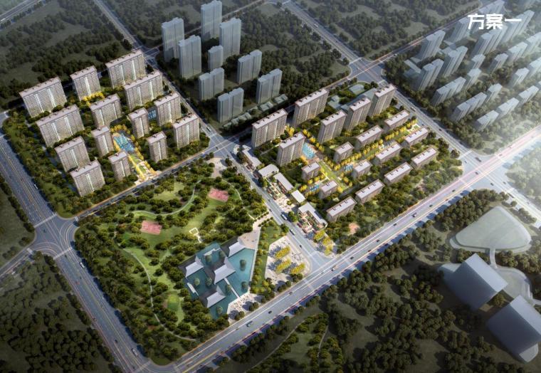 [江西]抚州佛岭小镇住宅高层洋房建筑方案