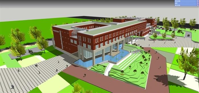 大学生国际交流中心建筑模型设计