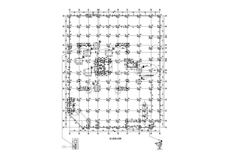 27层住宅综合楼框剪结构施工图(桩筏梁筏)