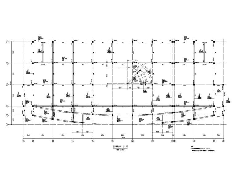 某商业展厅混凝土结构施工图(CAD)