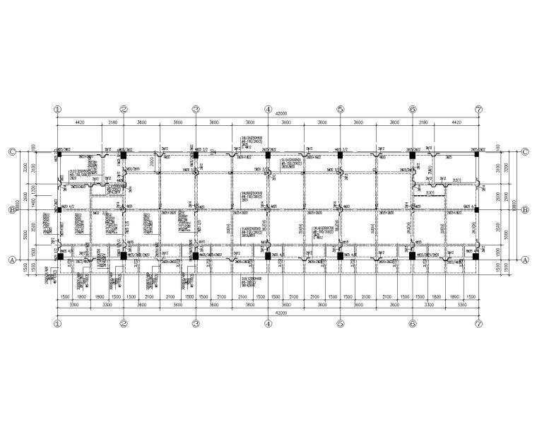 某六层宿舍楼混凝土结构施工图(CAD)