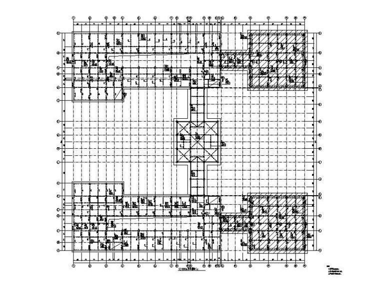 4层学校办公楼框架结构施工图_建筑结构水电