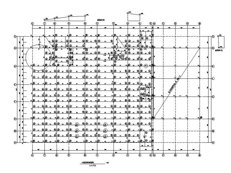 2层汽车4S店钢框架结构施工图(地下室托盘)