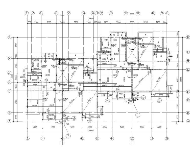 某四层住宅混凝土框架结构施工图(CAD)