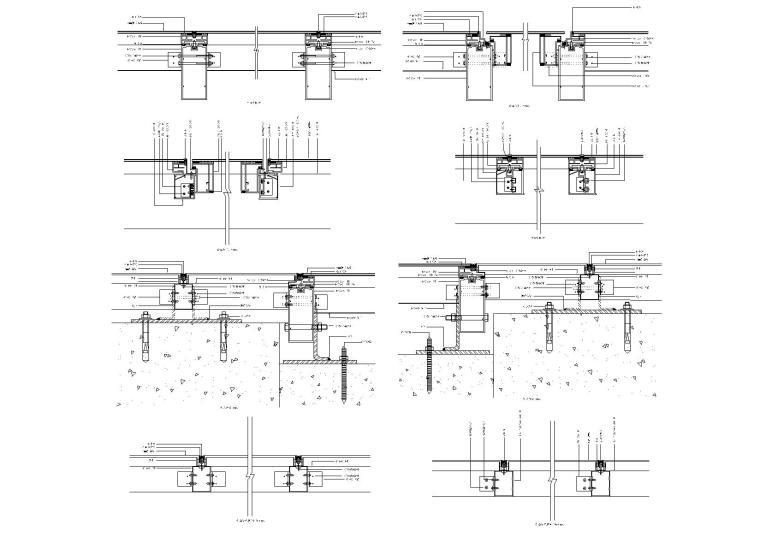 80个铝板幕墙节点(铝塑板包梁、包柱等)