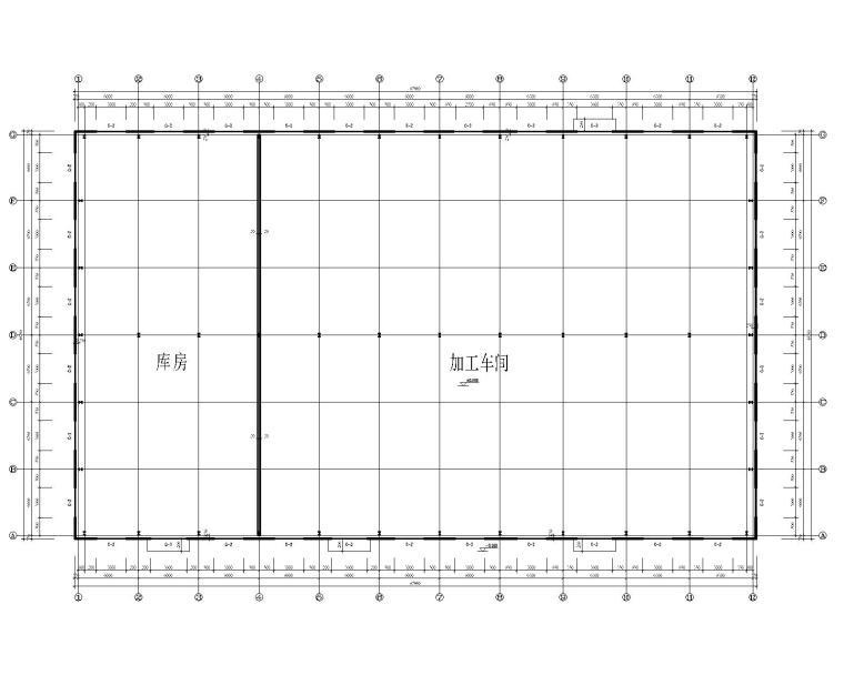 40米双跨钢结构厂房结构施工图(CAD)