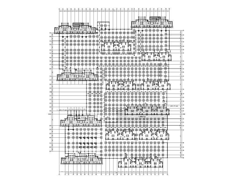 框架结构人防地下汽车库建筑结构施工图2018