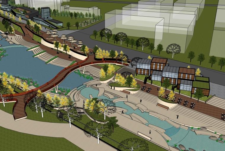 公园规划SU模型设计