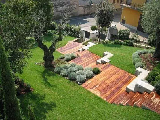 干货 | 坡地庭院,高差处理的细节之美