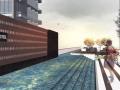 屋顶花园泳池景观设计su模型