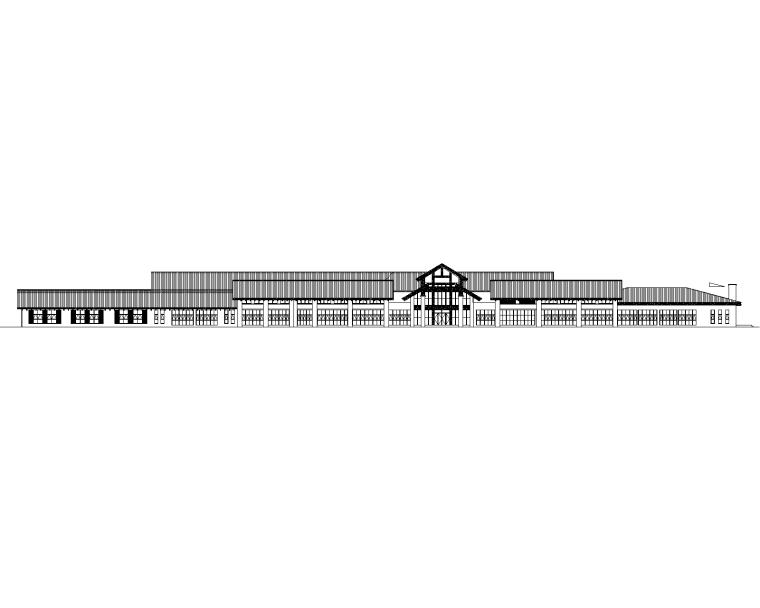 高速公路服务区全套建筑施工图2017