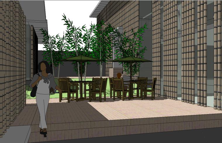 现代山地餐厅茶室会所景观建筑su模型设计