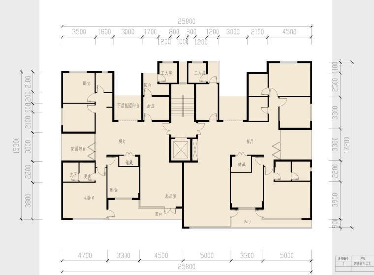 小高层(8层-15层)豪宅大户型设计图