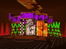 现代创意展览空间舞台场景SU模型