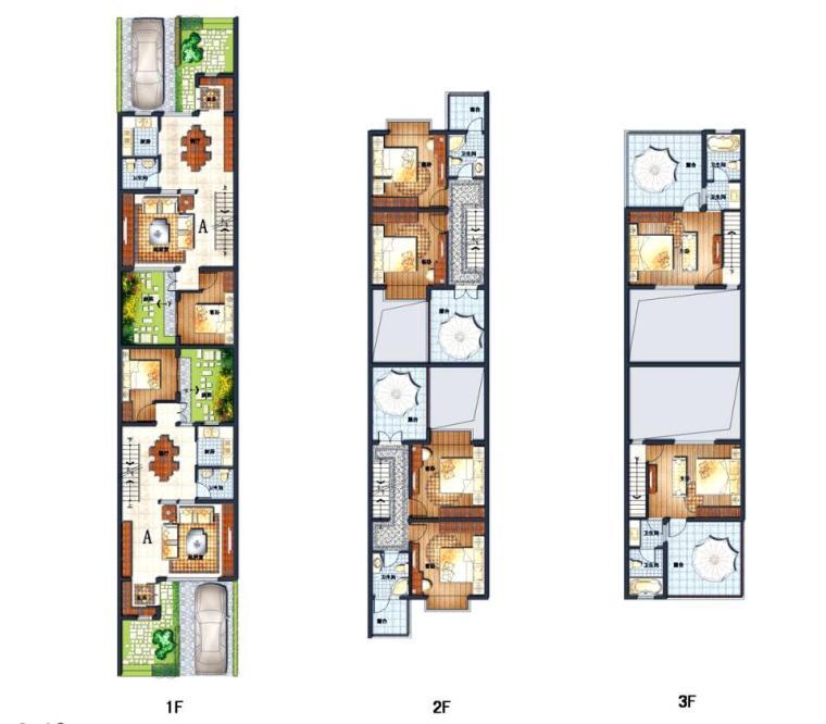 联排别墅小于120平米户型设计图