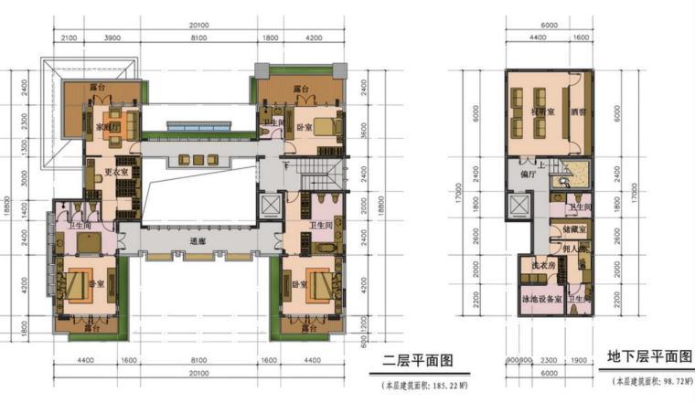 联排别墅豪宅户型设计图