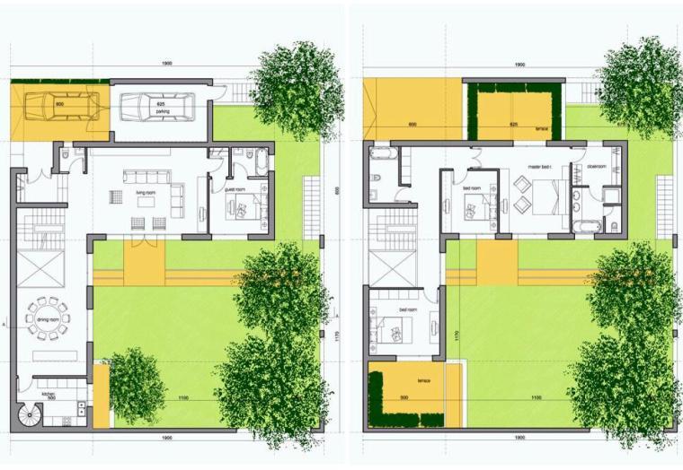 联排别墅250以上平米户型设计图