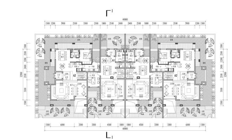 联排别墅120-250平米户型设计图