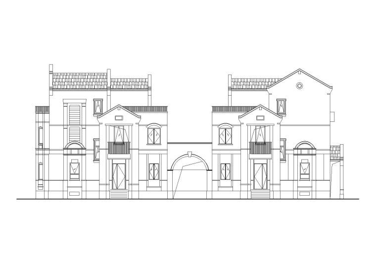 西塘保利越新中式合院别墅建筑施工图