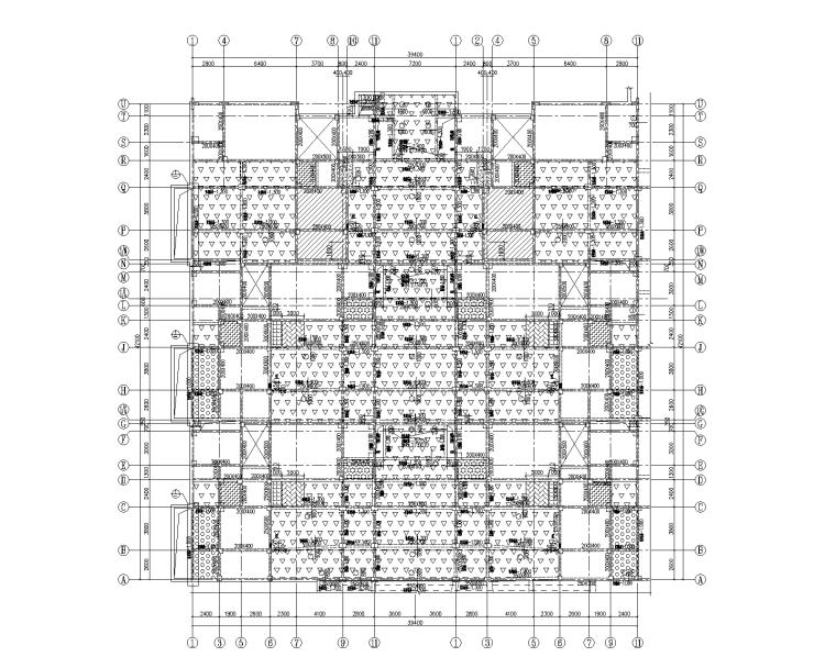 2层异形柱框架结构联排合院建筑结构施工图
