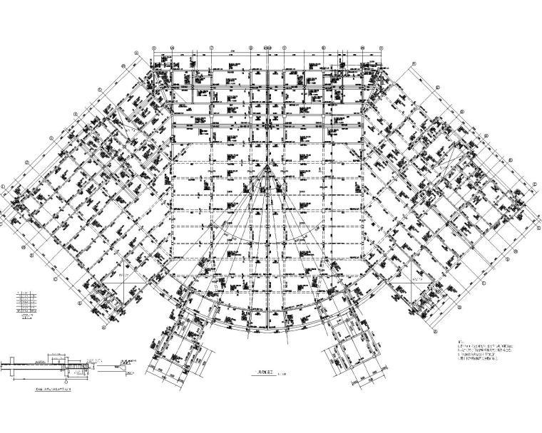 某四层食堂餐饮混凝土结构施工图(CAD)