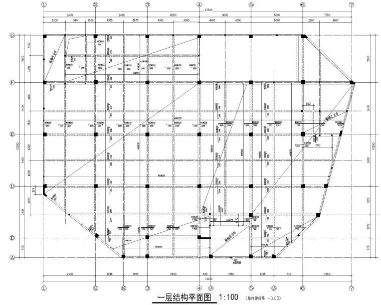 某四层商业混凝土结构施工图(CAD)