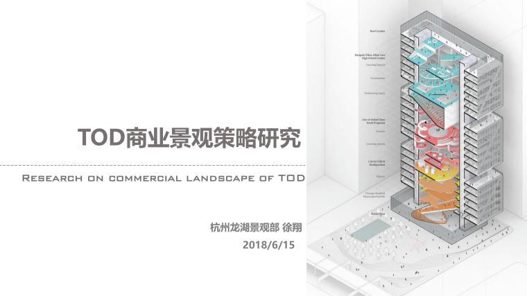 TOD模式商业景观策略景观考察龙湖2018年
