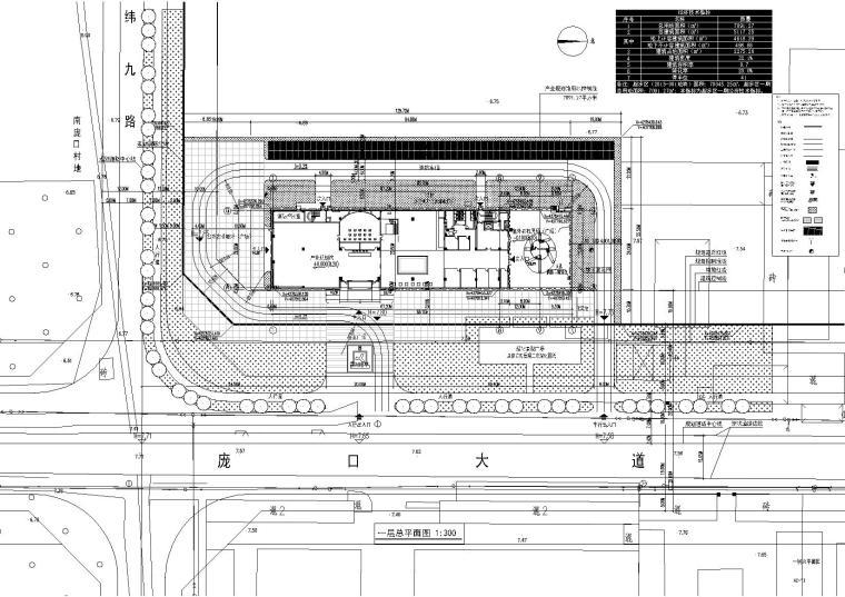 [庞口]农机商贸产业规划馆施工图+效果图