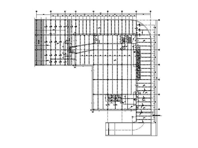 2层钢混框架结构会所结构施工图_含建筑