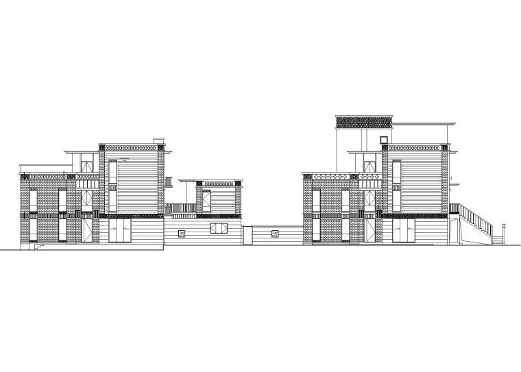 绿地汤山合院联排别墅建筑施工图