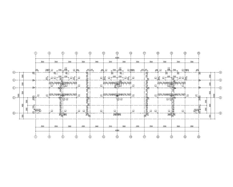 3层轻钢框架结构别墅结构施工图_含建筑