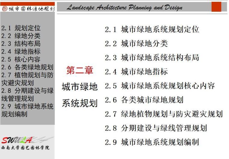 城市绿地系统规划讲义(PPT+59页)