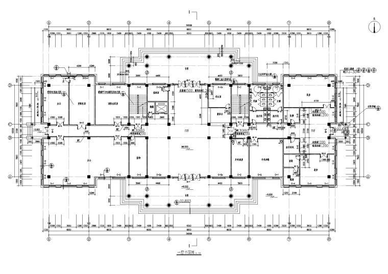 欧式办公楼施工图CAD