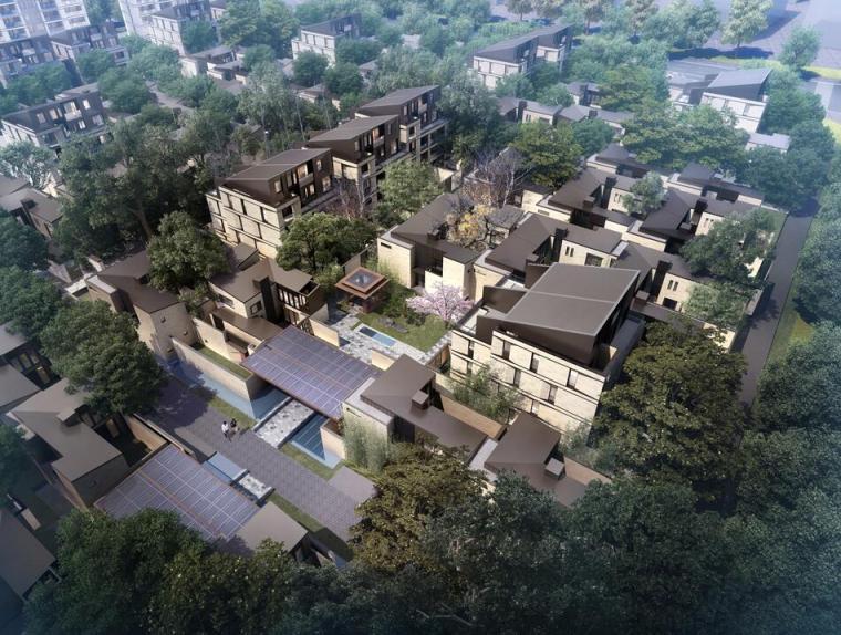 [江苏]新中式风格联排别墅建筑方案文本