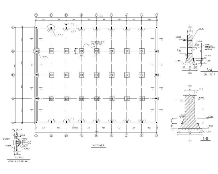 采用木屋架混凝土车间结构施工图(CAD)