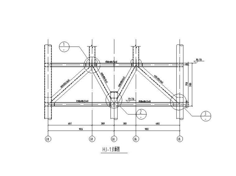 钢桁架详图CAD