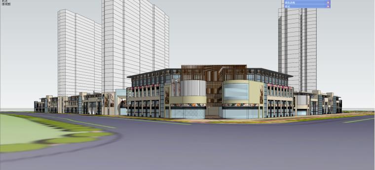 金科·廊桥商业建筑模型设计