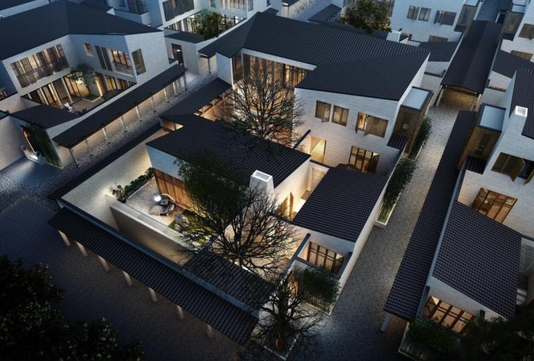 北京中粮瑞府新中式建筑模型设计