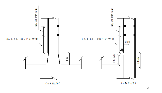柱子变截面处节点
