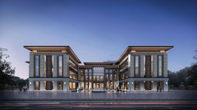 郑州新中式风格售楼处建筑模型
