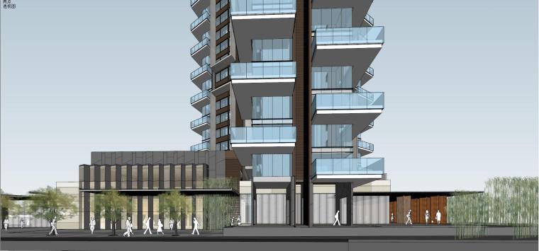 现代风格超高层住宅建筑模型 (6)