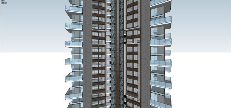 现代风格超高层住宅建筑模型 (5)
