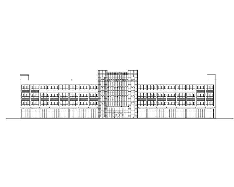 4层框架教学实训楼建筑结构图(部分SRC梁柱)