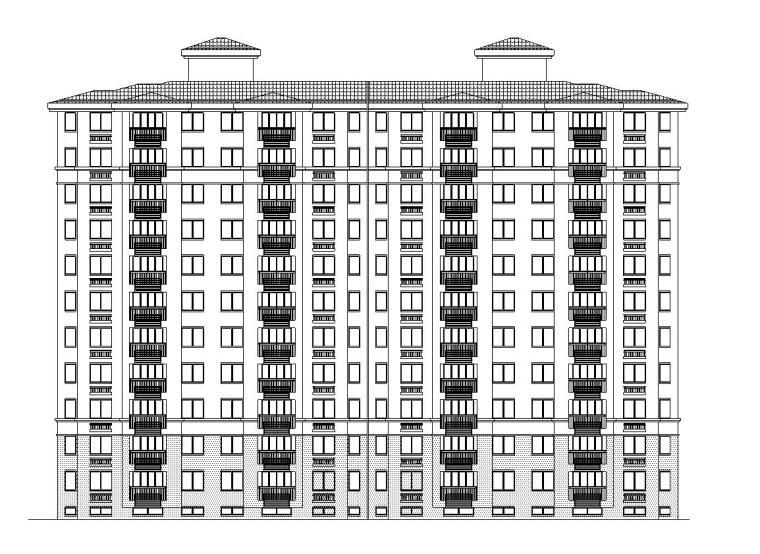 现代风安置房住宅建筑施工图(8-10栋)