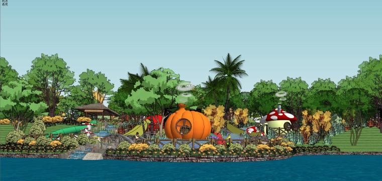 儿童活动区建筑模型设计