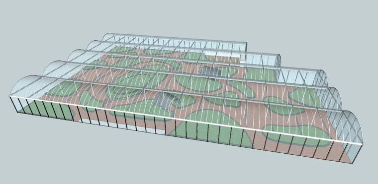 美丽乡村温室su模型+方案文本+CAD施工图
