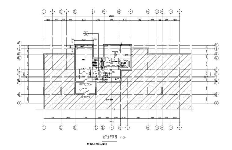 现代风安置房住宅建筑施工图(2019|4-7栋)-地下室平面图