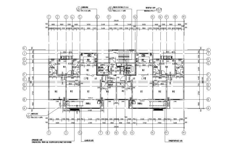现代风安置房住宅建筑施工图(2019|4-7栋)-4-16层平面图
