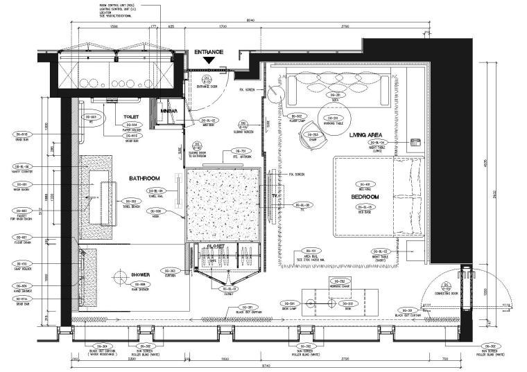 曼谷艾迪逊酒店2019客房样板间设计标准图纸